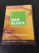 H&R Block Basic Tax Software - Mac|Windows - New - Authentic  - $11.14
