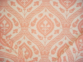 3-7/8Y KRAVET PORTFOLIO CORAL WHITE ANDALUSIAN FLORAL DAMASK UPHOLSTERY ... - $61.78