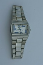 Vtg MARC ECKO Chronicles NON STOP All Stainless Steel Watch E85002G2  Runs great - $37.36