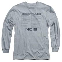 NCIS TV Drama series Gibbs Rules Graphic long sleeve cotton t-shirt CBS1608 image 1