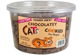 Trader Joe's Chocolatey Cat Cookies for People Net Wt. 16oz (1lb) 454g - $13.85