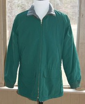 J Crew Size Medium Green Jacket Winter Coat Fleece Lining Green Tag Vint... - $28.49