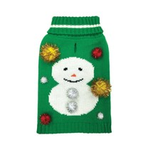 FOUFOU DOG Snowman Ugly Christmas Pet Holiday Sweater 2X - $13.81