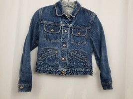 GAP Kids Denim Jean Jacket Coat Long Sleeve Blue Pockets Large Factory S... - $12.59