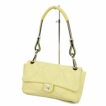 Chanel Auth canvas turn lock rope shoulder bag yellow Italy ba03dd rm17y... - $982.78