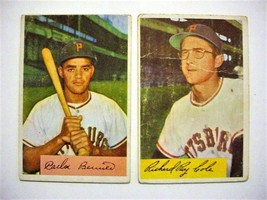 (2) 1954 Bowman Baseball Cards-#27 Cole and #171 Bernier-Ptrates - $6.00