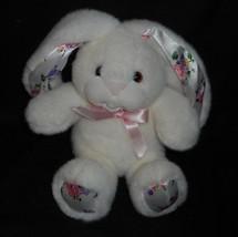 "8"" VINTAGE 1992 COMMONWEALTH WHITE BABY BUNNY RABBIT STUFFED ANIMAL PLUS... - $23.38"