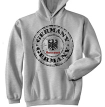 GERMANY 1 1 - NEW COTTON GREY HOODIE - $39.73