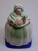 Fitz & Floyd Ceramic Hand Painted Cookie Jar Old Lady Granny Baker Baking Breads - $44.99