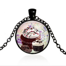 CUPCAKES CABOCHON NECKLACE   (13208)   >> COMBINED SHIPPING  - $3.71