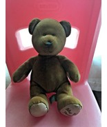 Russ Berrie My 1st Teddy Tan Velour Plush Baby Toy with Rattle - $9.90