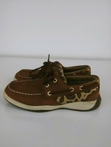 Sperry Top-Sider Boat Shoes Loafers Women Size 2M Leather Sequin Brown  - $13.09