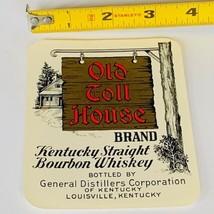 Whiskey label paper ephemera advertising vtg Old Toll House Louisville K... - $17.37