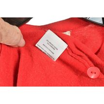 Eileen Fisher sweater M red cardigan 3/4 sleeves organic cotton cashmere blend image 7