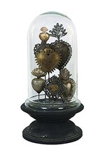 Creative Co-op Decorative Tin Sacred Hearts on Wood Pedestal with Glass ... - $176.87