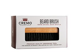 Cremo 100% Boar Bristle Beard Brush With Wood Handle To Shape, Style And Groom A image 2