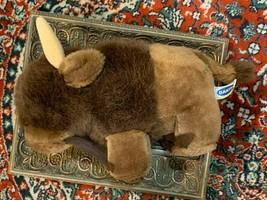"""DAKIN BISON BUFFALO 1984 10"""" BROWN PLUSH STUFFED ANIMAL LOU RANKIN NEW NWOT - $16.16"""