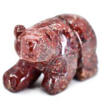 Rainbow Jasper Gemstone Tiny Miniature Bear Figurine Hand Carved in China image 5