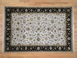 "6'1""x9'2"" HandKnotted Half Wool & Half Silk Rajasthan Oriental Rug G43056 - $1,263.36"