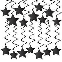 30PCS Star Decorations in Black Swirl Decorations Perfect for 50th birth... - $12.34