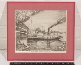 Vintage Union Insurance Modern Firefighting Apparatus Print g25 - $24.74