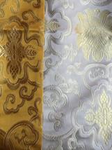 Tibetan high quality silk brocade white table runner/altar/table cover/p... - $18.00