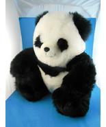"Panda Bear Plush 11"" Sitting Very Cuddly & Lush Fiesta Toys - $11.77"