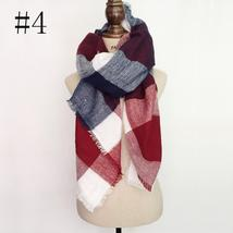 Hot Fashion Warm Cashmere Plaid Blanket Women's Warp Scarf Pashmina Shawl image 4