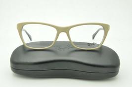 Ray Ban RB 5298 Eyeglasses 5387 Matte Beige on Violet Frame 55mm + Case - $81.30