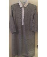 J McLaughlin Catalina Cloth Navy and White Dress Geometric Design Stretc... - $51.15