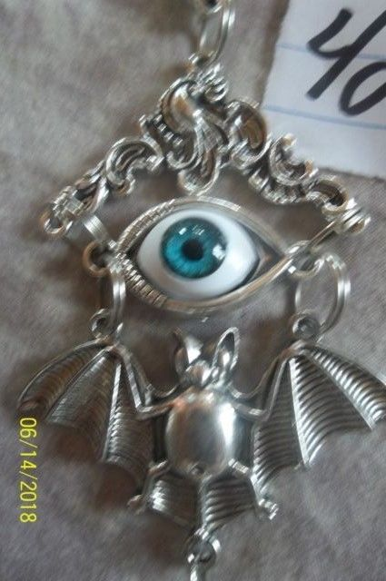 # purse jewelry Halloween Evil Eye keychain backpack filigree dangle charm #42 image 5