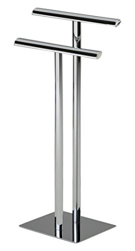 Kings Brand Chrome Metal Modern Free Standing Towel Rack Stand