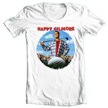 Happy Gilmore T-shirt Free Shipping retro 90's golf movie 100% cotton white  tee image 1