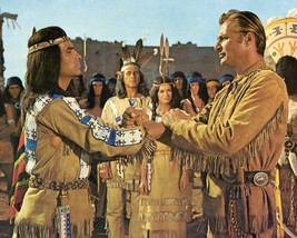 Winnetou Apache Gold Lex Barker Pierre Brice 16x20 Canvas - $69.99
