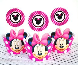 Cupcake Wrappers and Toppers, Minnie  Cupcake Wrappers, Minnie Cupcake ... - $6.50