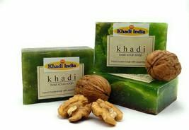 Khadi India Handmade Basil Scrub Soap 125 gm (Pack of 3) by Khadi India - $11.07