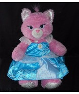 BUILD A BEAR DISNEY PRINCESS SPARKLE PINK CAT CINDERELLA STUFFED ANIMAL ... - $31.09