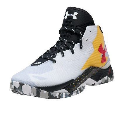 Primary image for Under Armour Curry 2.5 Basketball Shoes 1274425-105 WHT/BLK/TXI Size 9 klay kobe