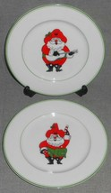 1976 Set (2) Fitz & Floyd SANTA CLAUS Salad Plates - $19.79
