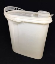 #587 Tupperware 2 QT Beverage Buddy Container Pitcher Sheer Clear w/Lid & Handle - $9.50
