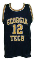 Kenny Anderson #12 College Basketball Jersey Sewn Navy Blue Any Size image 3