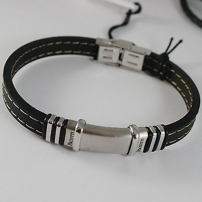 MEN'S BRACELET STEEL AND RUBBER BLACK CESARE PACIOTTI 4US ARTICLE 4UBR1538