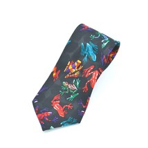 Addiction Colorful Frogs Polyester Tie Necktie - $11.87