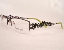 Reflections R 738 Khaki Green Women Eyeglasses Semi Rimless - $29.68