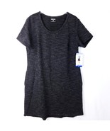 32 Degrees Cool Gray Dress Womens L Knee Length High Low Fleece Lined Po... - $13.21