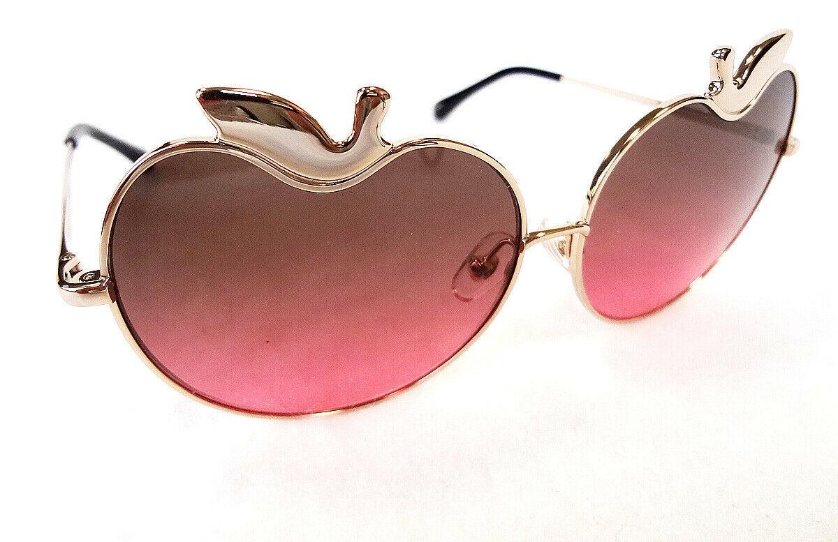 MARKUS LUPFER x LINDA FARROW Women's Sunglasses ML/12/3 APPLE Gold JAPAN - New!