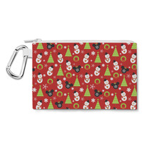 Christmas Mickey Baubles Disney Inspired Canvas Zip Pouch - $15.99+