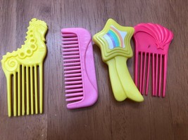 Vintage My Little Pony G1 Hasbro Mixed Random Lot 4 Picks Combs Hair Brushes - $5.94