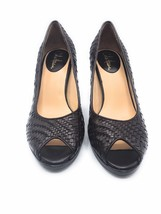 Cole Haan Women's Woven Brown Leather Peep Toe Pumps ( US 8.5 B) - $47.49