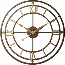 "Nice Wall Clock 21.25"" Wrought Iron Roman Numerals Industrial Rustic Ant... - $320.00"